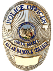 Allan Hancock College police officer badge