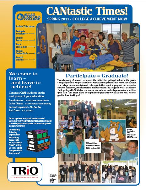 Spring 2012 Newsletter Cover