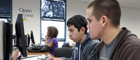 Students in the LVC Computer Resources Center