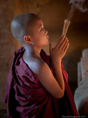 Young Monk with Incense