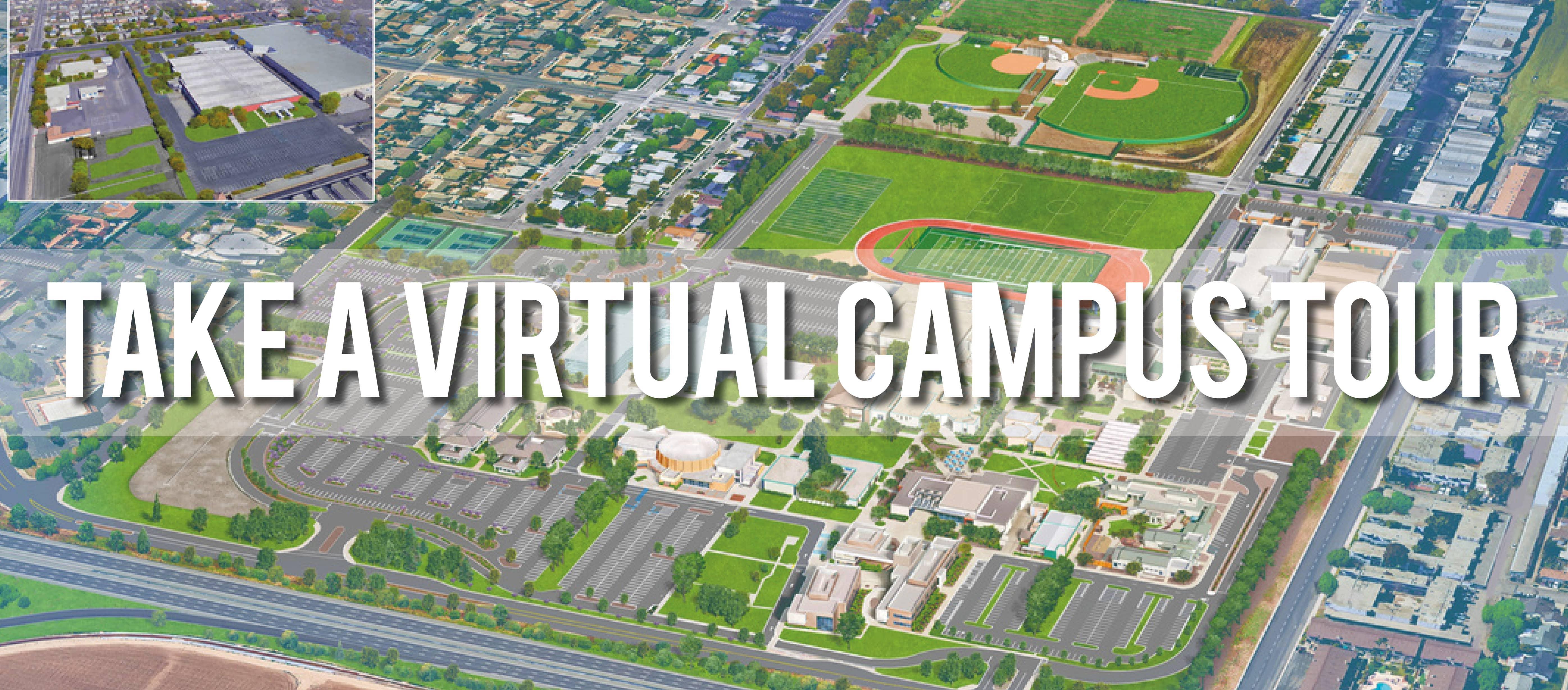 Aerial view of Santa Maria campus