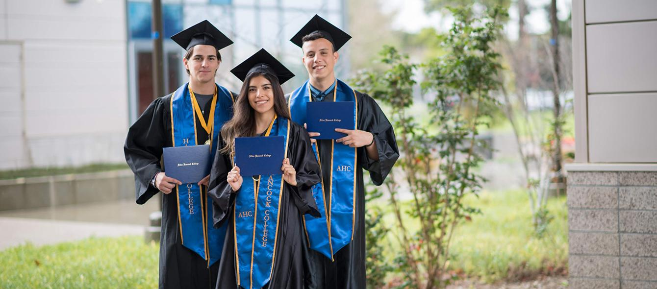 Graduates on campus