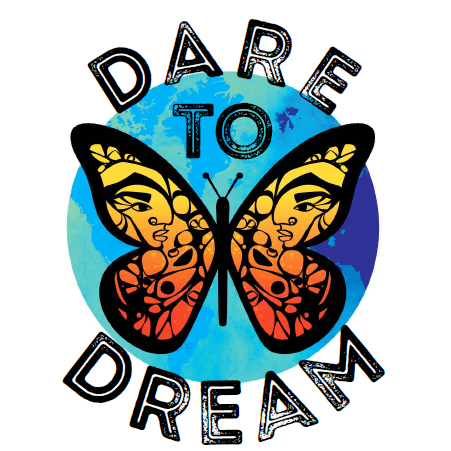 Dare to Dream butterfly logo