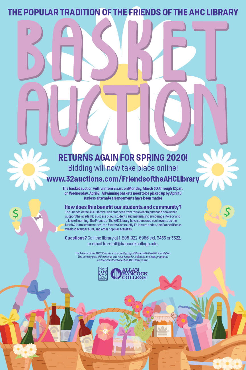 Friends of the AHC Library Basket Auction Flier