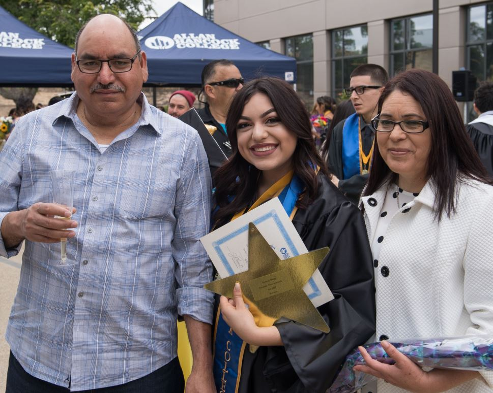 parents with graduate daughter