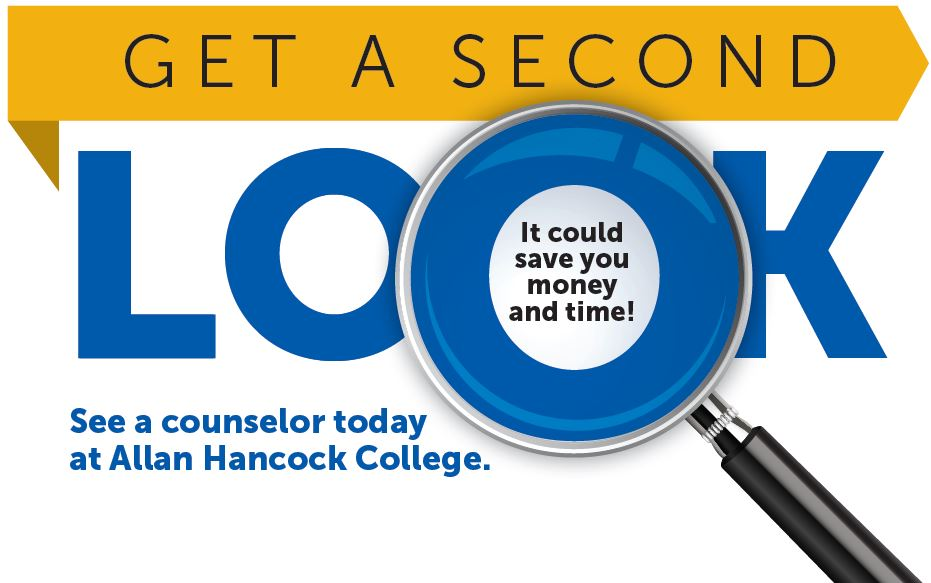 Get a second look. It could save you time and money. See a counselor today.